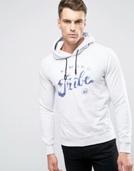 Scotch And Soda Printed Hoodie Grey