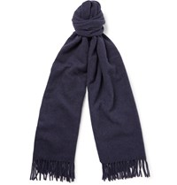 Acne Studios Canada Melange Virgin Wool Scarf Blue