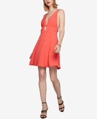 Fame And Partners Multi Strap Plunging Neckline Dress Watermelon
