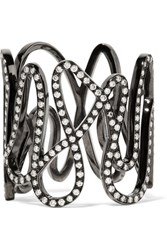 Repossi White Noise 18 Karat Black Gold Washed Diamond Ring