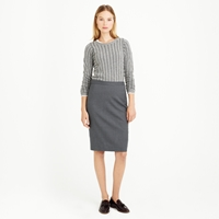 J.Crew Petite Pencil Skirt In Super 120S Wool