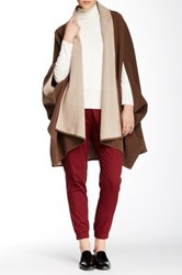 Shades Of Grey Oversized Cocoon Wool Blend Cape Brown