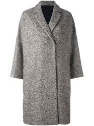 Brunello Cucinelli Herringbone Tweed Coat Green