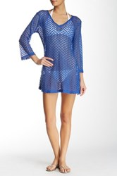 J Valdi V Neck Cover Up Blue