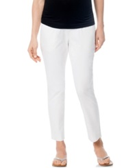 A Pea In The Pod Maternity Ankle Skinny Leg Pants White
