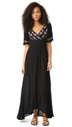 Rahicali Zahara Wrap Dress Black
