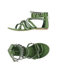 Met Sandals Emerald Green