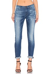 Hudson Jeans Nico Mid Rise Ankle Super Skinny Wipe Out