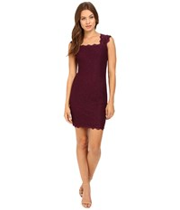 Adrianna Papell Cap Sleeve Lace Mulberry Women's Dress Purple