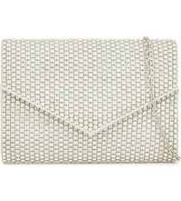 Aldo Lassila Crystal Clutch Bag Silver