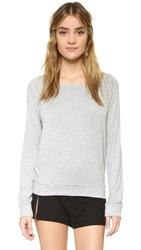 Honeydew Intimates Jetset Long Sleeve Tee Heather Grey