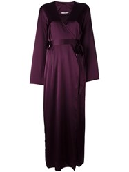 Gilda And Pearl 'Sophia Long Wrap' Gown Red