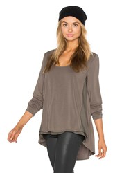 Heather Silk Panel Swing Top Sage