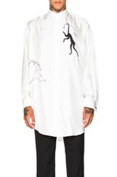 Alexander Mcqueen Oversized Victorian Monkey Shirt In White