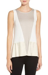 Trouve Women's Colorblock Mixed Media Tank