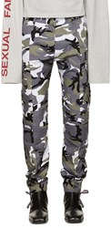 Vetements Grey Camo Cargo Trousers