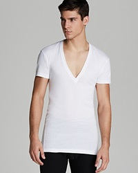 2Xist 2 X Ist Pima Cotton Slim Fit Deep V Neck Tee