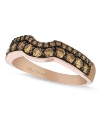 Le Vian Chocolate Diamond Wedding Band 5 8 Ct. T.W. In 14K Rose Gold Brown