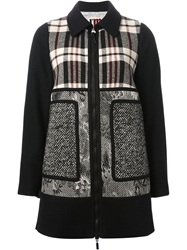 Isola Marras Mixed Pattern Coat Black