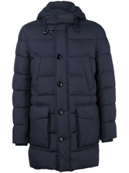 Fay Buttoned Hooded Jacket Blue