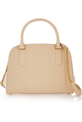 Nina Ricci Elvida Small Two Tone Leather Tote Nude