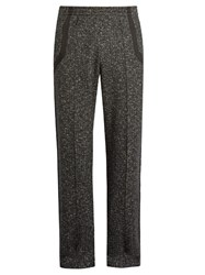 Raey Cotton Tape Wool And Cotton Blend Track Pants Black