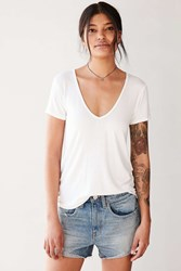 Truly Madly Deeply Cara V Neck Tee White