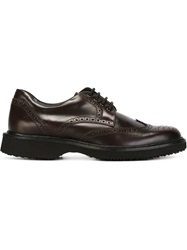 Hogan Rubber Sole Brogues Pink And Purple