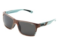 Zeal Optics Brewer Carmel Turquoise Gloss W Dark Grey Polarized Lens Sport Sunglasses Blue