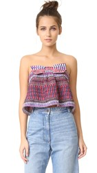 Saloni Eve Top Garnet Raffia