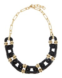 Alexis Bittar Lucite Double Sided Link Station Necklace Women's