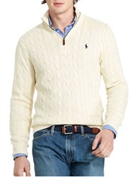 Polo Ralph Lauren Cable Knit Mockneck Sweater Cream