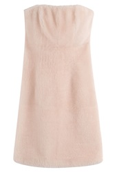 Fendi Lambskin Cocktail Dress Rose