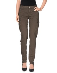 Twin Set Simona Barbieri Denim Denim Trousers Women Grey