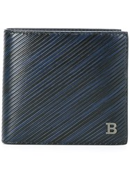 Bally Flap Squared Wallet Blue