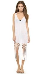Milly Jersey Macrame Cover Up Dress White