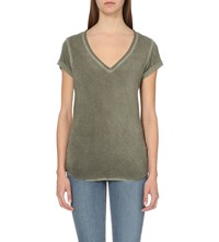 Paige Charlie Stretch Jersey T Shirt Vintage Maple Green