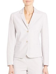Piazza Sempione Seersucker Cotton Jacket White