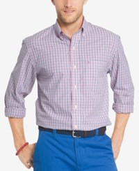 Izod Men's Advantage Gingham Shirt Rapture Rose
