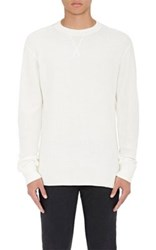 Alexander Wang T By Men's Cotton Long Sleeve T Shirt Ivory