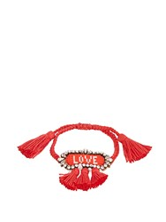 Shourouk Hippie Athna Love Bracelet Red