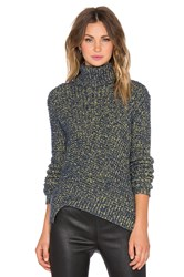 Marc By Marc Jacobs Thermal Turtleneck Sweater Blue