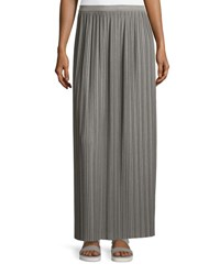 Theory Osnyo Drapey Tee Pleated Maxi Skirt New Gray Melange New Grey Melange