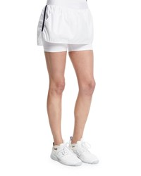 Heroine Sport Side Striped Training Skort White Navy Size Xs White W Navy