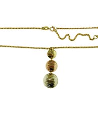 Lord And Taylor 14K Tri Tone Gold Circle Pendant 14 Kt. Tri Color Gold