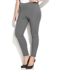 Calvin Klein Plus Size Pull On Skinny Ponte Pants Charcoal