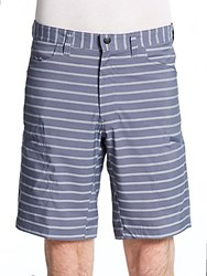 Hawke And Co Seven Pocket Striped Tech Shorts Blue Stripe