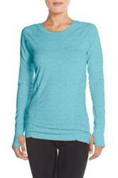 Zella 'Defined' Seamless Long Sleeve Tee Blue