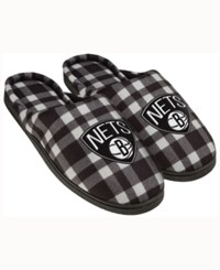 Forever Collectibles Brooklyn Nets Flannel Slide Slippers Black