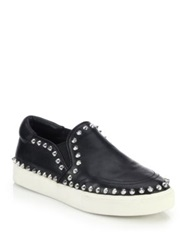 Ash Idyle Spiked Nappa Leather Slip On Sneakers Black